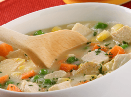 Receta de sopa de pollo