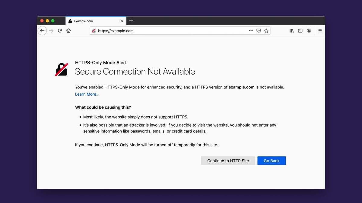 Firefox 83 HTTPS solamente
