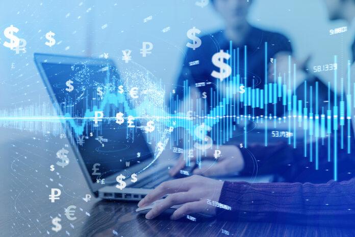 FinTech / electronic payments / banking / dollars / euros / pounds / yen