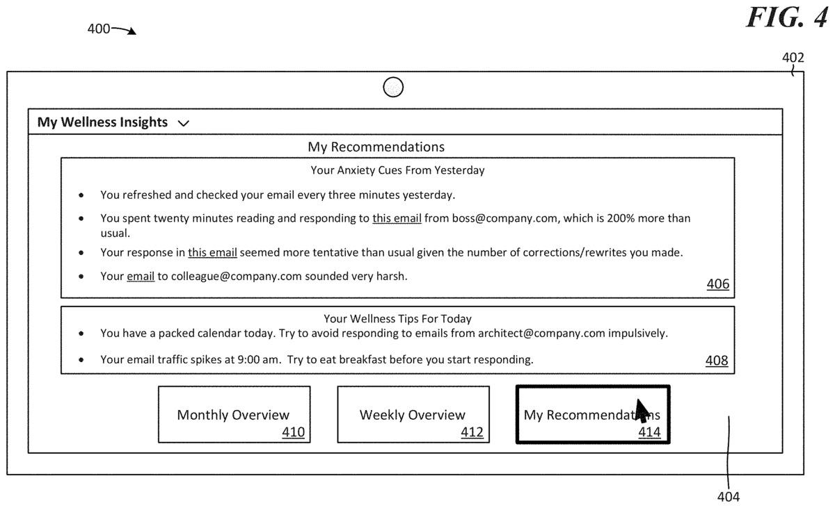 patente 5 de microsoft wellness insights