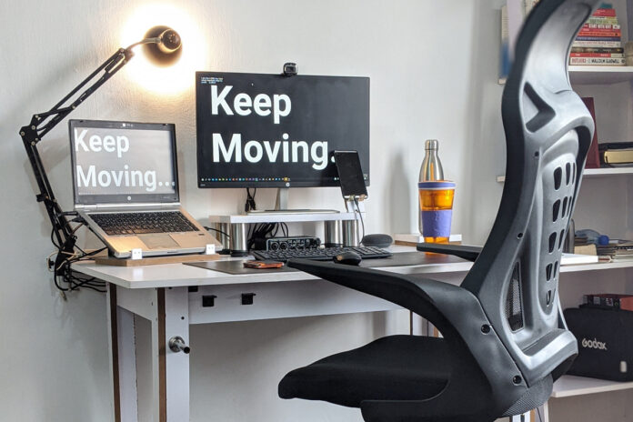 ergonomic chair healthy work station remote working work from home desk  by oladimeji ajegbile from