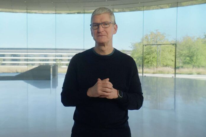 Apple, Tim Cook, mobile, remote work, hybrid workplace models